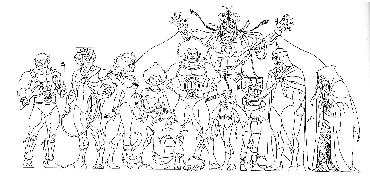 Thundercats character designs for Coloring pages thundercats